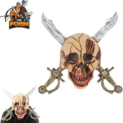 Pirate Skull Cross Swords Mask For Cosplay Halloween Masquerade