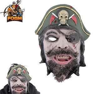 Captain Pirate Mask For Cosplay Halloween Masquerade