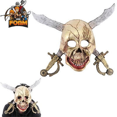 Scary Pirate Skull Cross Swords Mask For Cosplay Halloween Masquerade