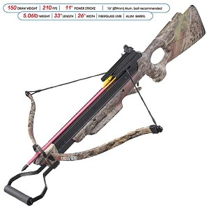150 Lbs Draw Recurve Crossbow Foldable Real Tree Camouflage Crossbow