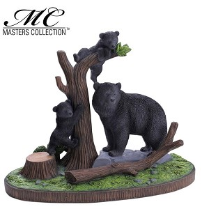 Home Decor Resin Bear Display with Stand