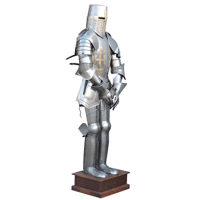 Medieval Knight Suit of Armor Combat Full Body Wearable with Stand