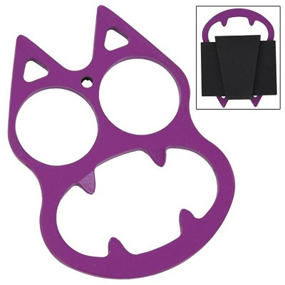 Purplicious Cat Face Evil Mini Knuckle