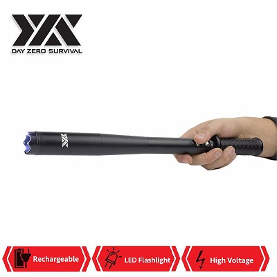 DZS Tactical LED Self Defense Stun Gun Baton Rechargeable