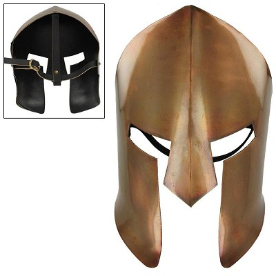 Greek 20 Gauge Copper Plating Spartan Medieval Battle Facial Mask Armor