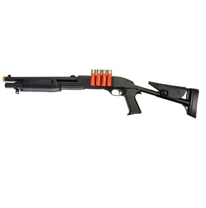 Spring M183A3 Shotgun FPS-380, With Shell BB Holders, Airsoft Gun