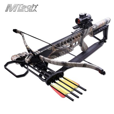 175LB Recurve Crossbow Red Dot Scope Integrated Quiver