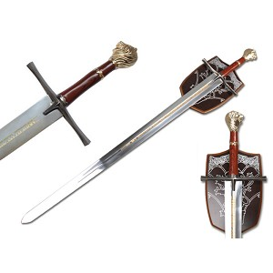Chronicles Of Narnia Prince Sword Replica With Wall Plaque