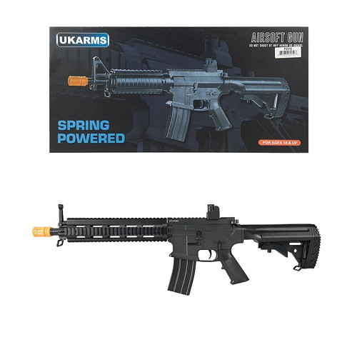 P2216 M4 Polymer Quad Picatinny Spring Airsoft Rifle FPS 200 W/ .20G BBs