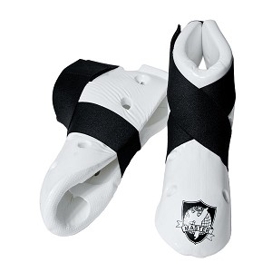White Student Martial Arts Sparring Foot Gear Shoes Size X-Large
