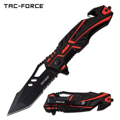 "8.5"" Tanto Tactical Spring Assisted Opening Pocket Knife Red"