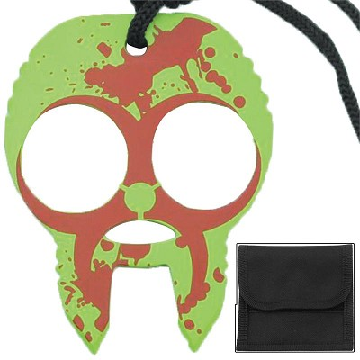 Zombie Clobbering Skull 2 Finger Self Defense Knuckles Red