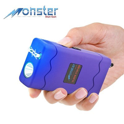 25 Million Volt Rechargeable Stun Gun With LED Light and Disable Pin Purple