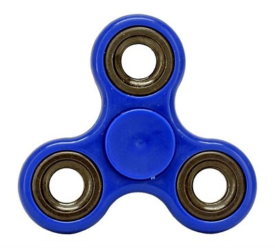 Stress Relief Hand Spinner and Spinning Tri Fidget High Speed Blue