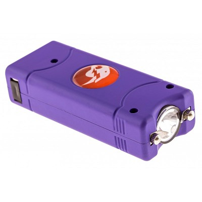 Purple MAX POWER Rechargeable Mini Stun Gun With LED Light