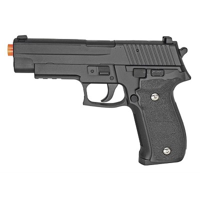 Metal G26B Spring Airsoft Pistol, Black Shoots 280 FPS
