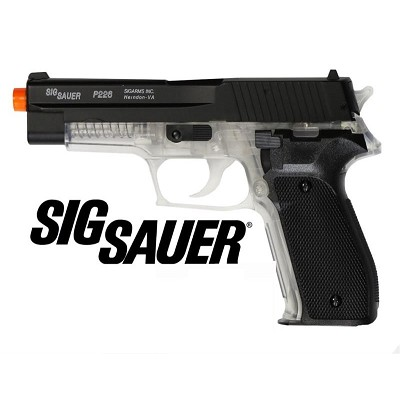 Sig Sauer P226 Spring AirSoft Black Hand Gun METAL SLIDE Two Tone